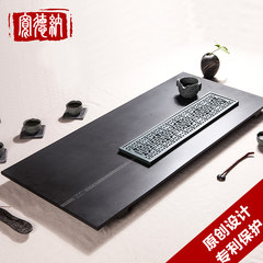 Dana stone tea tray size Wujin wide drainage natural black stone stone tea tray tea stone tea table Light fleeting 90cm*40cm