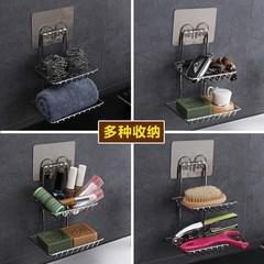 Double bathroom draining soap box soap box double lattice creative soap rack soap holder powerful suction box