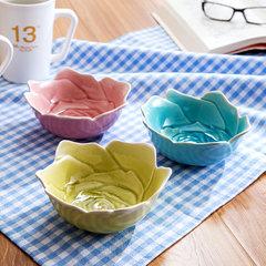 家用调味碟小吃碟盘子创意日式餐具醋碟子陶瓷调料碟酱油碟小菜碟 大号玫瑰粉色