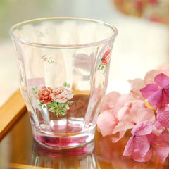 Spot Japanese purchasing Zakka Rose Rose cup, cup, afternoon tea, Creative Cup Glass L* size