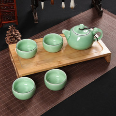 Kung Fu tea set of Longquan celadon Di powder green ceramic office high-grade tea tea 5 Lilac