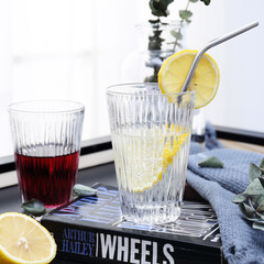 Vertical ice fresh scenery glass cup milk drink cup minimalist style transparent glass Vertical glass 300ml