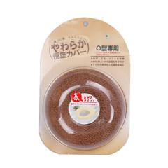 OKA日本进口O型彩色柔软马桶套吸水速干便座圈防滑坐便器垫包邮 褐色