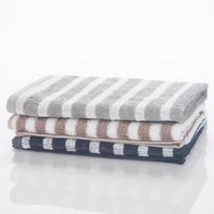 Good knowledge of cotton yarn formaldehyde free safety spongy striped towel washcloth Dark blue [bath towel 70x140cm]