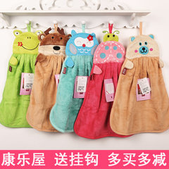 Mail Kangle house hanging coral monkey monkey brother animal towel, wipe towel, wipe hand cloth, wipe handkerchief Green frog 20 35x30cm