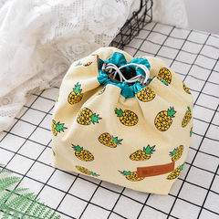Cute and colorful fruit portable Lunch Box Bag Lunch Bag Lunch bag bag bag small canvas small fresh round square Pineapple