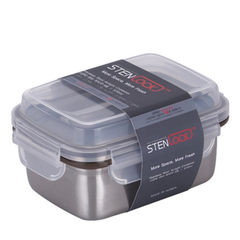 South Korea imports stainless steel fresh-keeping boxes, sealed lunch boxes, lunch boxes, lunch boxes, refrigerator boxes, fruit boxes Gaogai No. 5 -630ml