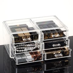Special new six drawer cosmetic box, transparent large desktop cosmetic box, plastic finishing box SF1005-5