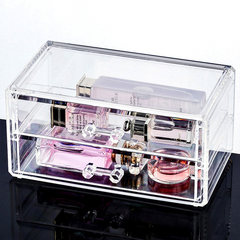 Transparent cosmetic storage box, plastic living room, desktop key, small object, drawer type storage box, sundries box