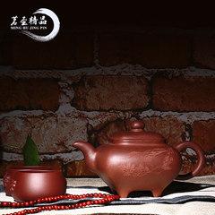 Yixing purple sand teapot pure all hand famous Wu Junhui square square Ding pot raw ore Purple mud teapot Teapot Tea Set