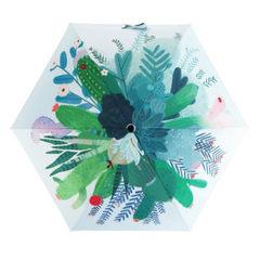 原创插画可爱创意雨伞防紫外线折叠超轻太阳伞防晒多肉晴雨两用伞 可爱多肉超轻伞
