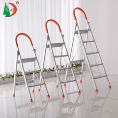 Huafeng aluminium alloy ladder 3/4/5 step upset skid pedal, high load bearing and stable staircase Orange flower
