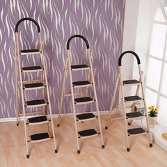 Thickening coarse household folding ladder, steel ladder, ladder ladder, 456 step stair, stair iron 150kg non insulation U type six step ladder