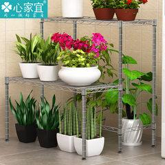 Heart home should be multifunctional flower shelf storage rack storage rack landing ladder FLOWER FLOWER balcony Tungsten gold