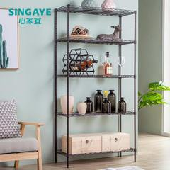 The heart should be suitable for five layers, space storage, master shelf, kitchen shelf, metal storage rack rack Ivory