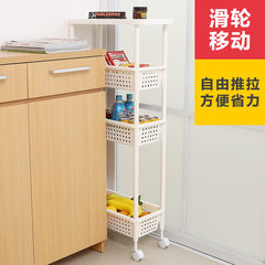 Japan imported car pulley four layer storage slot bathroom cabinets kitchen shelf rack Lishui crack four layers