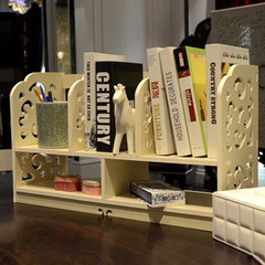 Desk bookshelf originality, simple bookshelf, shelf, student table, small bookshelf, desk rack, table shelf, rack Baroque high 35*60*22CM
