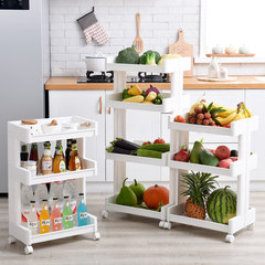 Movable shelf, bathroom and kitchen frame, multi floor landing rack, bookshelf, bathroom, multi layer storage rack Bilateral export -3 layer