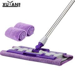【天天特价】好神拖平板拖把家用拖布专用夹毛巾地墩布拖把3块布 紫色