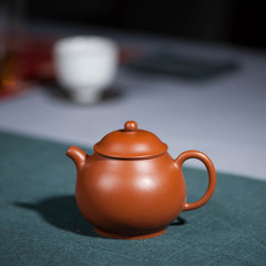 Yixing Zisha teapot small coal mud Zhu eggshell pan pot offering ancient manual deals porous