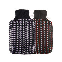 Germany HUGO fashion knit jacket hot water bag red pixel wind Po water injection Plumbing Plumbing bag bag mail Bordeaux red