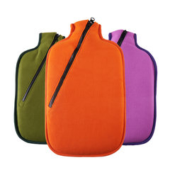 Germany imported HUGO ecological hot water bag zipper flannel coat are anti hot water filling increase warm hand warm water bag Vitality orange
