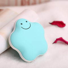 Valentine's day Macarons lucky hand warmer charging treasure warm baby USB mini mobile power explosion proof electric hot cake Green Fleece bag