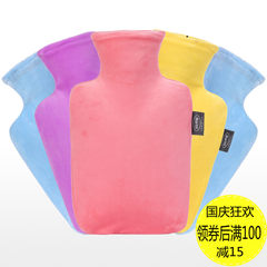 Perth Perth, PVC water candy colored hot water bag flush explosion-proof medium large warm water bag green hand warmer Bright yellow