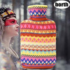 The Indian borth Park safety folk style imitation at large and medium water warm warm hot water bag handbag Caribbean Blue