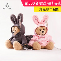 GOC IN C Zheng Kai DUEPLAY new rabbit bear charging hot water bag safety explosion proof electric hand treasure gray