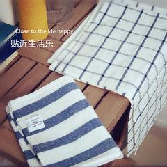 Cotton cloth home mat cloth cloth towel napkin Plaid stripe cotton cloth Western-style food The wheat flavor thin lines