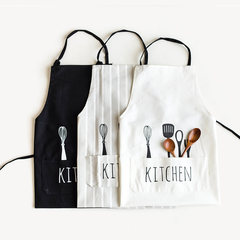 Modern lady's skirt, Korean fashion, European style letter skirt, cloth apron, Kitchen Apron Black apron