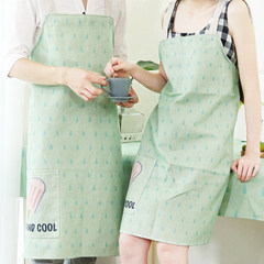 The small fresh clean kitchen apron cotton fabric Home Furnishing smock overalls apron Bakery Cafe B medium