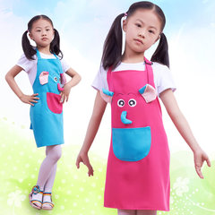 The princess cute cartoon painting apron custom printed logo kindergarten art painting clothing overclothes Rose rabbit Edition