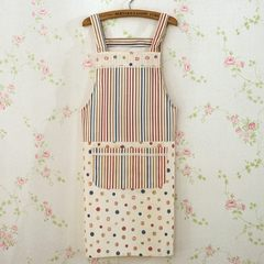 Simple European style blended cotton Mira sleeveless apron oil pollution overclothes fashion Home Furnishing simple female Kitchen Apron Mirabel