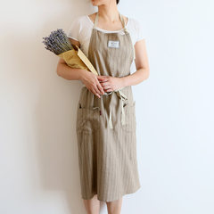 Korean fashion cotton oil proof simple sleeveless apron smock overalls floral coffee baking paint Xinjiang Tibet need to make up 10 yuan freight difference
