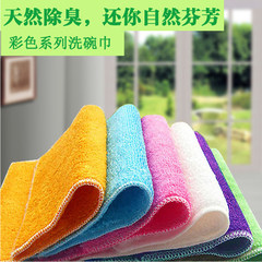 [Han Kunitake] every day special offer oil absorbent fiber dish cloth, dishcloth Double thick cloth 27*30cm full color 10 Pack