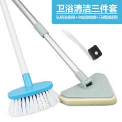 Long handle brush, bathtub brush, sanitary ware, ceramic tile, cleaning brush, wall, floor brush, washbasin, glass sponge brush set