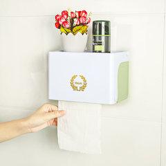 卫生间纸巾盒免打孔厕纸盒卫生纸置物架手纸盒卷纸塑料防水抽纸盒 白色