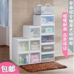 Drawer type storage cabinet, storage box, plastic finishing box, single stack drawer, combination cabinet, locker, wardrobe and mail Size: wide type (pulley) Jiangsu, Zhejiang and Shanghai