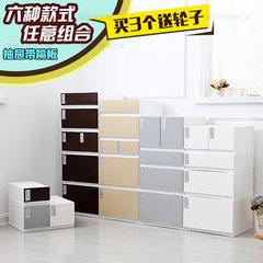 Thickening drawer type storage cabinet, storage box, transparent plastic drawer cabinet, combined locker, wardrobe storage box 806 (coffee) Jiangsu, Zhejiang and Shanghai