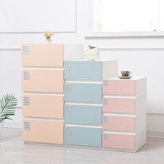 Drawer type storage cabinet, multi layer locker, baby wardrobe, plastic finishing box, toy and clothing box 1 Light grey