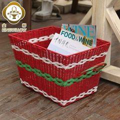 Golden willow home plastic storage box, underwear, toys, storage box, sorting box, basket storage box White blue tuba