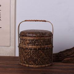 Zizhu series of hand woven goods are box box box basket process retro Zizhu tea