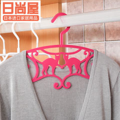 Japan imports racks, creative plastic clothes, airing shelves, underwear, balcony, anti slip, windproof clothes, sun clothes 2 Pink