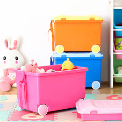 IRIS IRIS color plastic toys for children with sliding wheels, toy boxes, baby boxes can be stacked Navy Blue