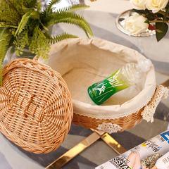 A simple desktop storage basket willow Gaiteng series storage basket storage basket basket with cover ideas Honey linen size