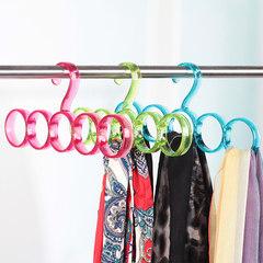 Full on shipping Bailu colorful 5 ring circle scarf hanger frame magic scarf hanger tie rack Green 5 ring