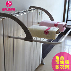 Radiator folding multifunctional airer balcony guardrail indoor airer small towel drying rack