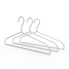 Japanese simple aluminum hanger, coat hanger, alloy hanger, space aluminum hanger, simple, light, traceless, 1 pieces, 3 pieces, 5 pieces 1 Picture color